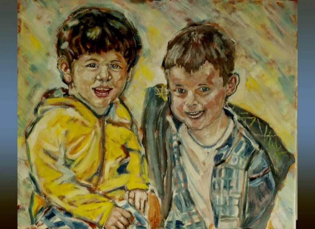 Zwei Jungen aus der Schweiz