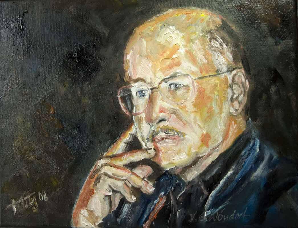 """Portrait """"Volker Schlöndorff"""" bei einer Podiumsdiskussion in Hamburg"""